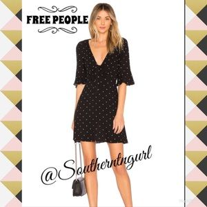"NWT❤️FREE PEOPLE❤️""All Yours"" Polka Dot Mini Dress"